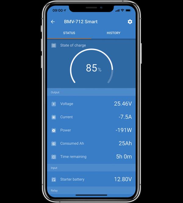 Victron BMV-712 Smart Batterimonitor Smarttelefon app